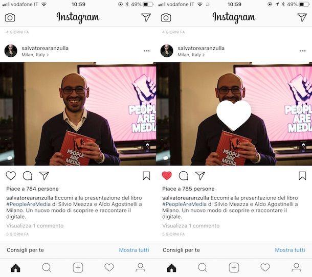 Interagire con i contenuti Instagram