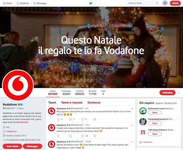 Come farsi contattare da Vodafone per offerte