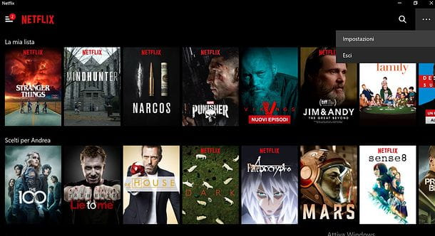Netflix per Windows 10