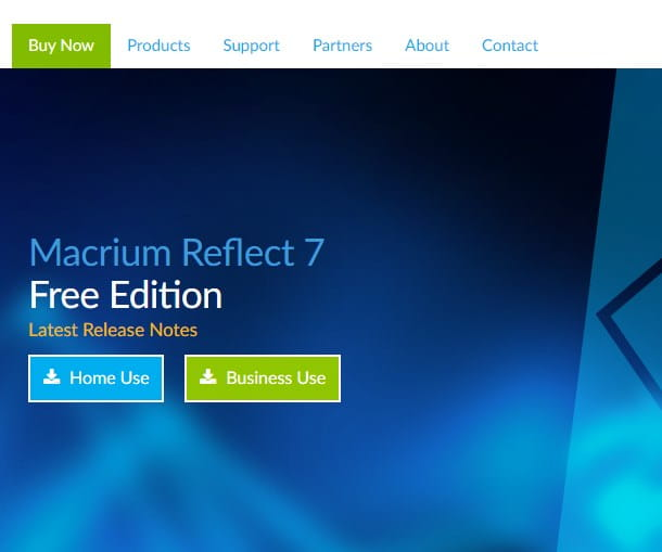 Macrium Reflect Free - pagina di download