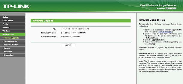 Firmware TP Link extender