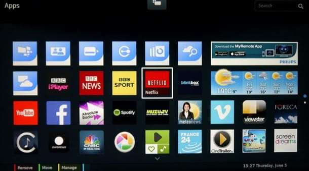 timvision su smart tv philips