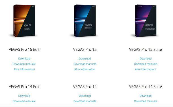 Come scaricare Sony VEGAS Pro