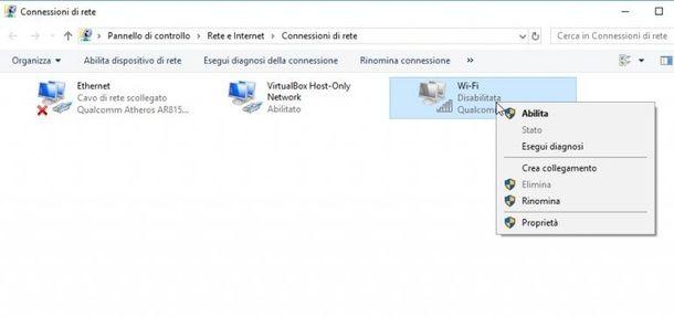 Connessione Wi-Fi Windows