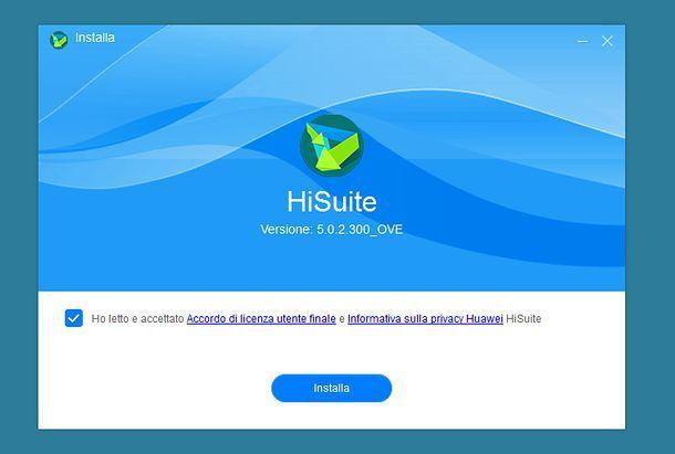 Installazione HiSuite