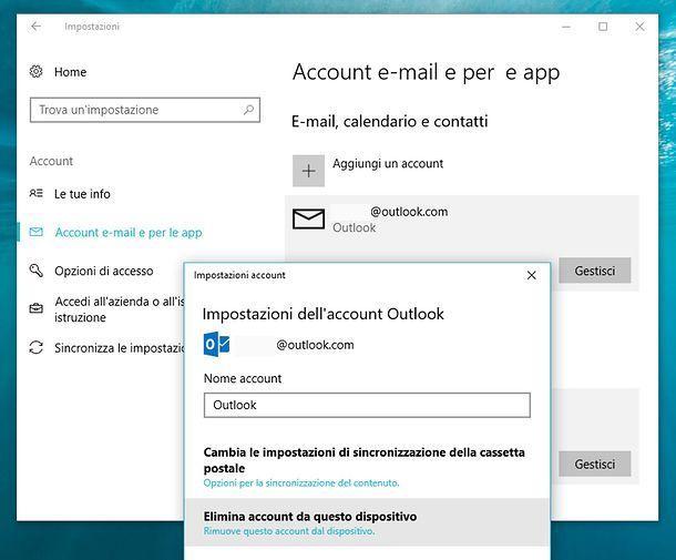 Come eliminare un indirizzo email memorizzato sul PC