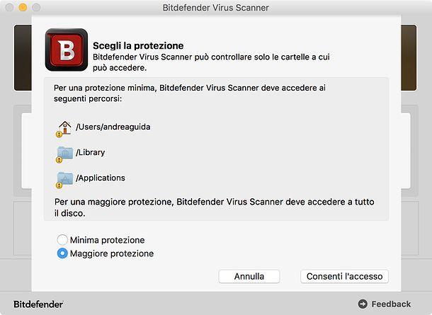 Scansione Bitdefender Virus Scanner