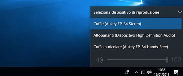 Configurazione audio Windows