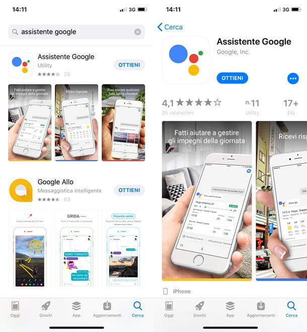 Google Assistant per iOS