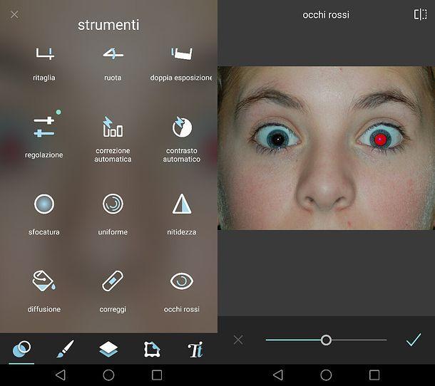 Come correggere gli occhi rossi su Android