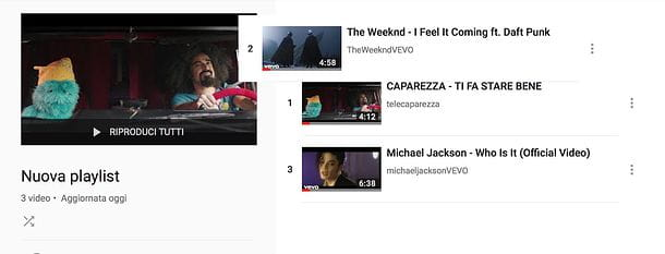 Come modificare una playlist su YouTube