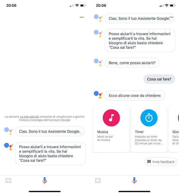 Come attivare Google Assistant su iOS