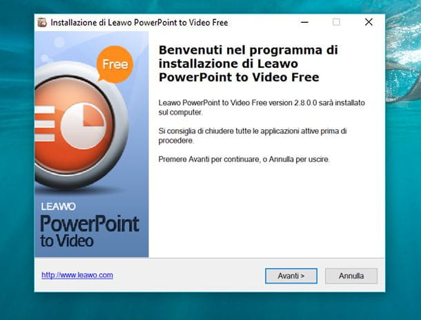 Installazione Leawo Free PowerPoint to Video