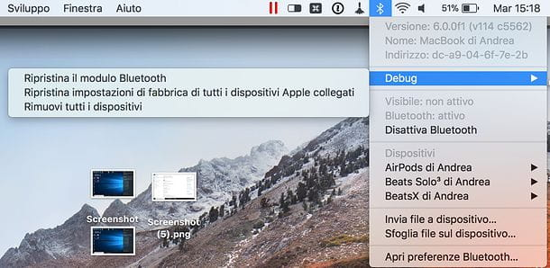 Come resettare Bluetooth su Mac