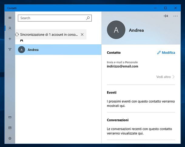 Come eliminare un indirizzo email memorizzato in Windows
