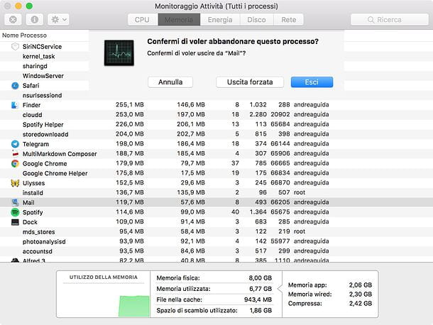 Come cancellare file bloccati su Mac
