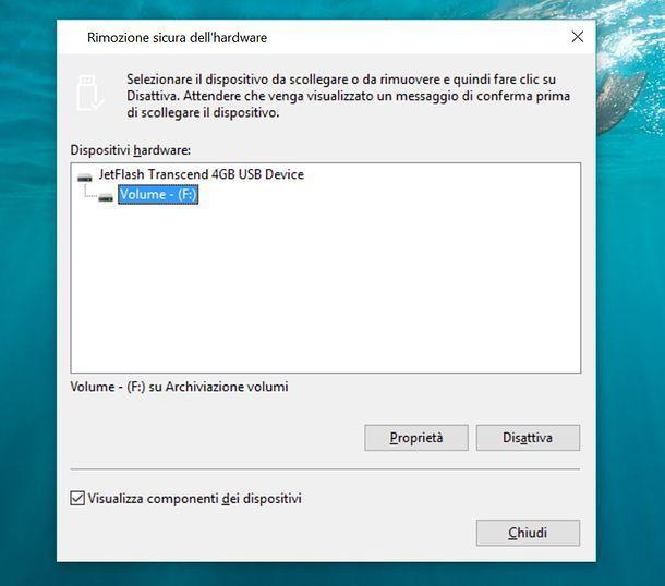 Come rimuovere chiavette USB dal PC