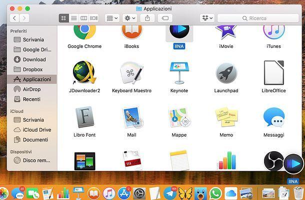 Disinstallare i programmi su macOS