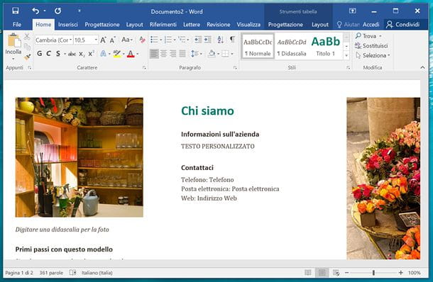 Come creare brochure con Word
