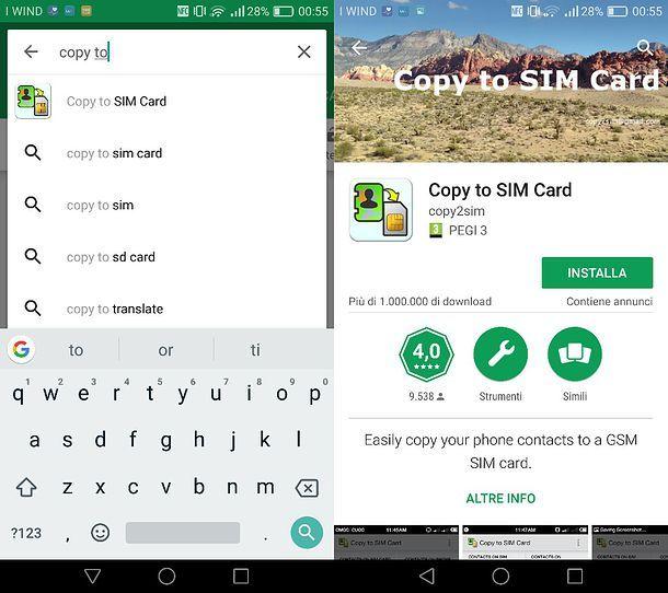 Come copiare i numeri dal telefono alla SIM