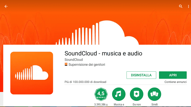 qualsiasi canzone da soundcloud