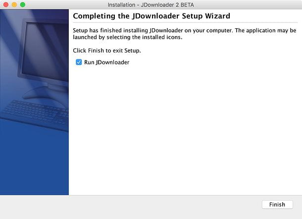 Come installare JDownloader su Mac