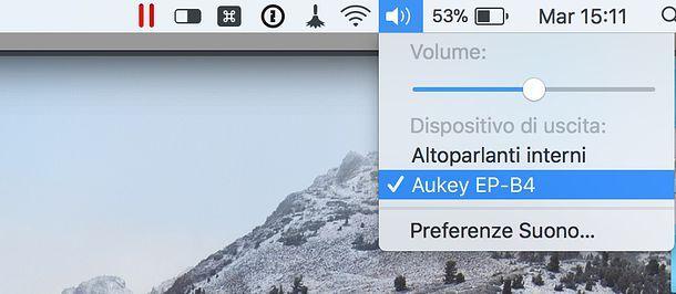 Come collegare cuffie Bluetooth al Mac