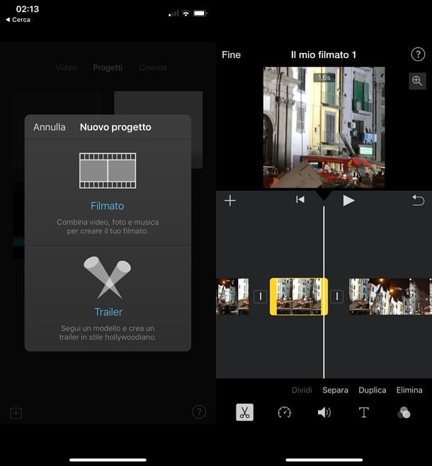 Come tagliare scene di un video su iOS