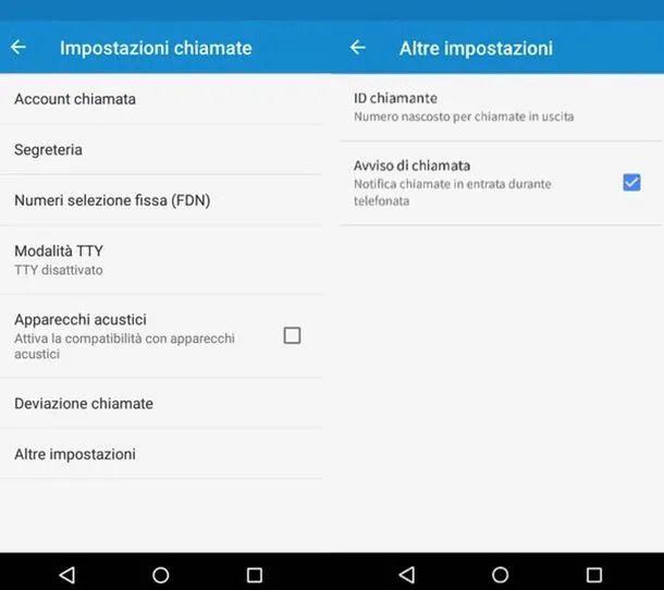 Impostazioni Android
