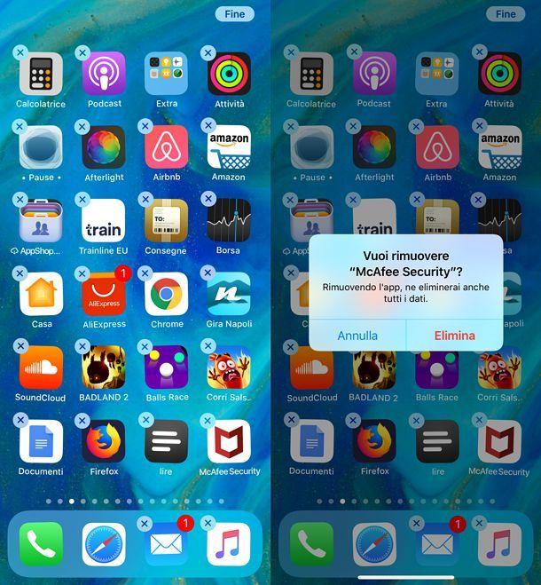 Come disattivare McAfee su iOS