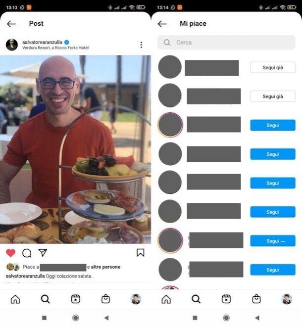 Vedere like di altre persone su Instagram