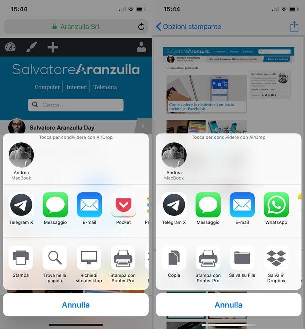 Come salvare in PDF su iOS