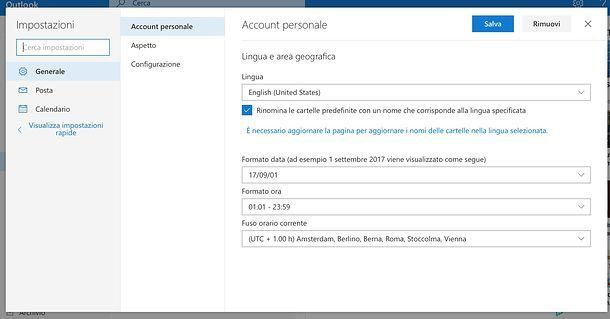 Come cambiare lingua su Outlook.com
