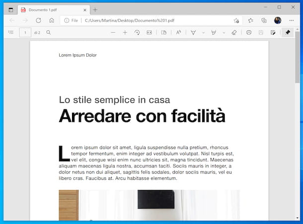 Microsoft Edge PDF