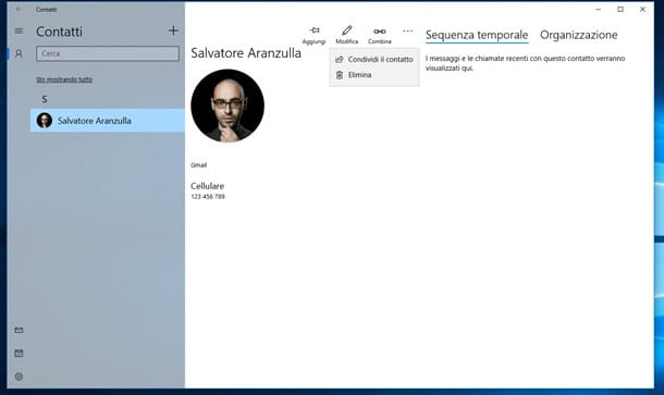 App Contatti di Windows 10