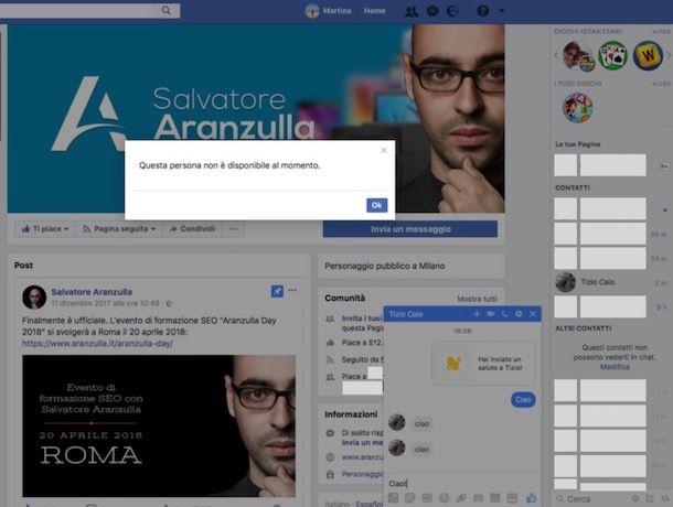 Come capire se ti hanno bloccato su Facebook Messenger