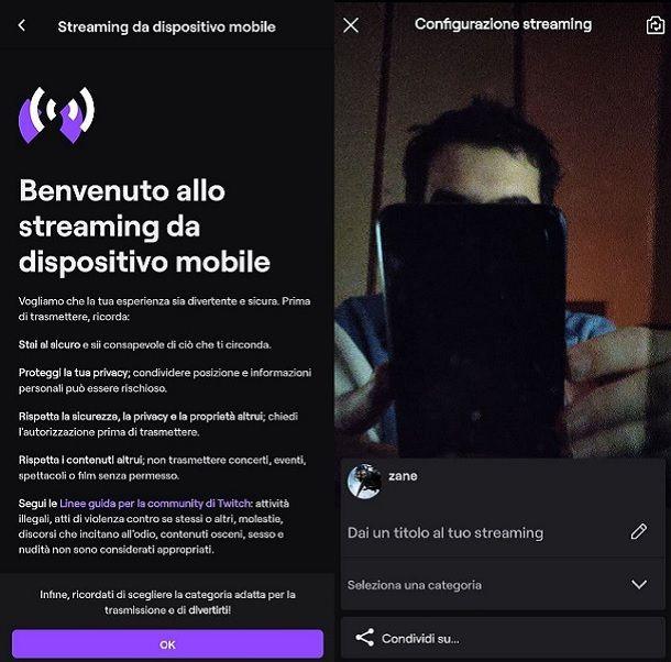 Come streammare su Twitch da telefono