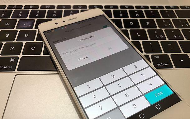 Come cambiare il PIN della SIM su Android