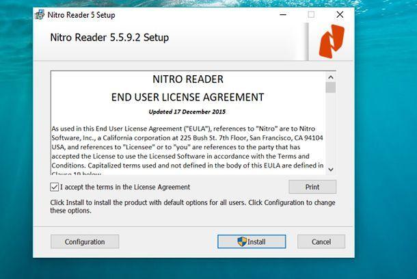Installazione Nitro Reader