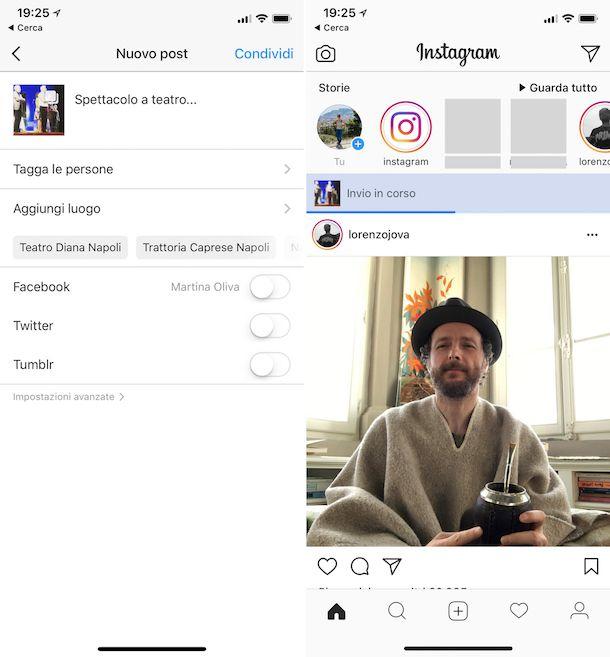 Come mettere più foto su Instagram