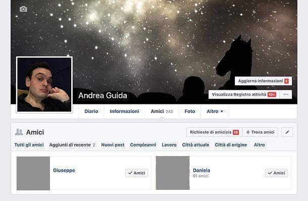 Come vedere le richieste di amicizia accettate su Facebook