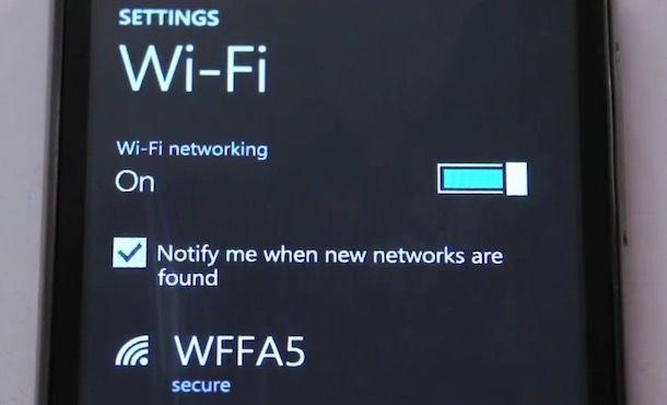 Come attivare Wi-Fi