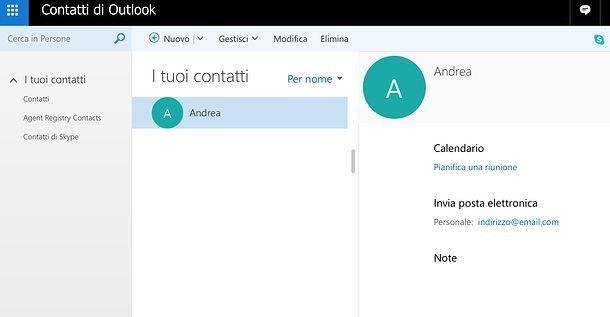 Come eliminare un indirizzo email memorizzato su Outlook