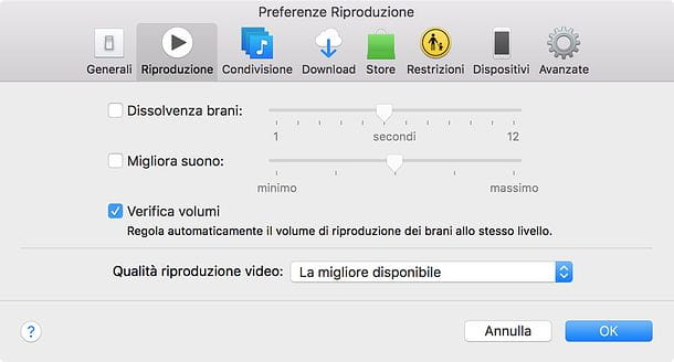 Come normalizzare volume iTunes