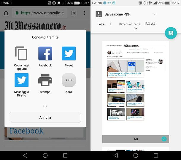 Come salvare in PDF su Android