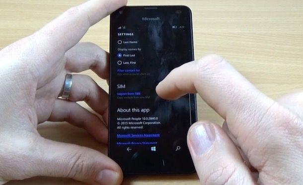 Come spostare i numeri dalla SIM al telefono
