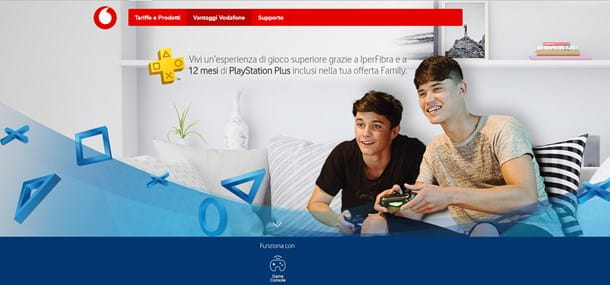 PlayStation Plus gratis con Vodafone IperFibra Family