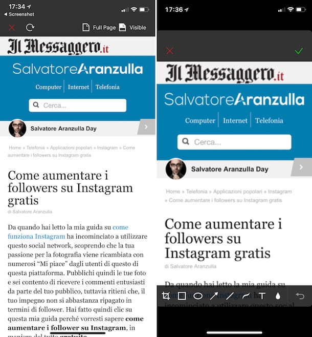Come fare screenshot iPhone X