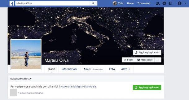 Come vedere profilo Facebook se non sei amico