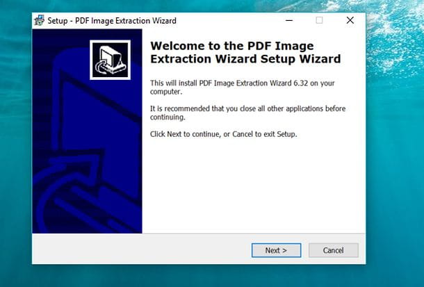 Installazione PDF Image Extraction Wizard